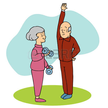 35834763-an-image-of-two-seniors-working-out-